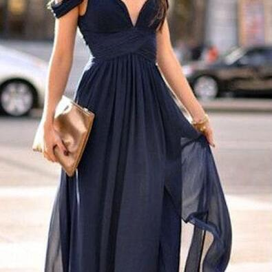 Chiffon Off-The-Shoulder Sweetheart..
