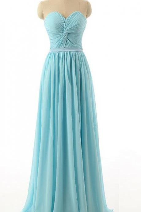 Custom Made Sweetheart Neckline Ruched Front Knotted A-Line Evening Dress, Prom Dress
