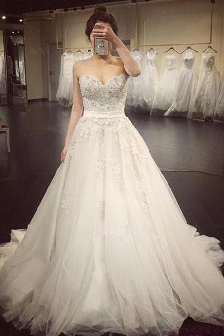 Cheap Lace Wedding Gowns,Mermaid Wedding Dresses,2018 Luxurious Long Custom Wedding Gowns,Affordable Bridal Dresses,Plus Size Wedding Dress
