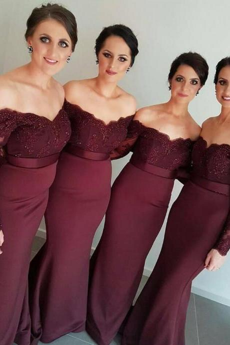Cheap Bridesmaid Dress ,Chiffon Bridesmaid Dress,Off the Shoulder Wedding Guest Formal Occasion Dress