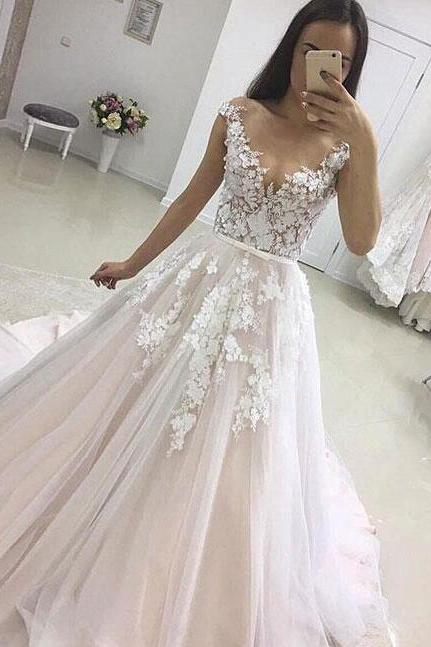 Mermaid Lace Wedding Dress,Chiffon Wedding Dress,Cheap Wedding Dress,Bridal Gown,Long Wedding Dress