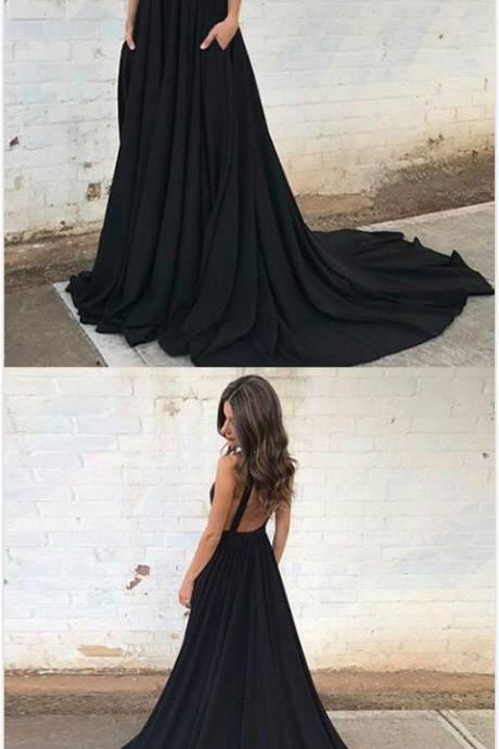 Beauty Backless Prom Dress,Black Prom Dresses, Cheap Prom Dress,Long Prom Dress,Sexy Prom Dress,Evening Gowns