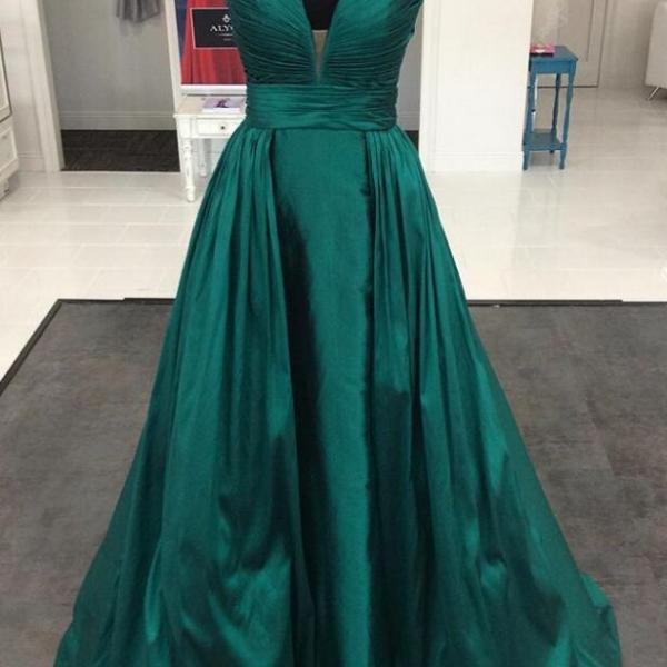 Dark Green Prom Dress,Simple Prom Dress,Sexy A line Prom Dress,Long Formal Evening Gowns Dresses ,Prom Dresses Elegant